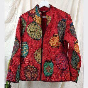 VINTAGE 1990s Quilted Silk Lantern Jacket